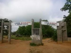L'entrée du lycée moderne de Sokodé