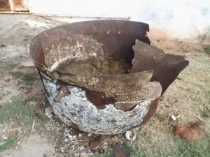 Marmite dans laquelle les portugais cuisinaient pour les esclaves, en attendant leur départ